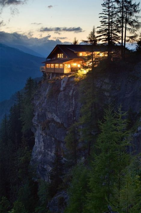 Clifftop House, The Alps, Austria