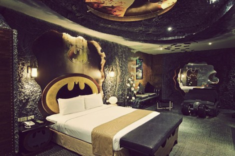 Batcave hotel room at the Eden Hotel in Kaohsiung City, Taiwan